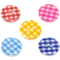 "Resin ButtonLattice Pattern15mm (5/8"") diaMin. 1 Doz. - Product Image"