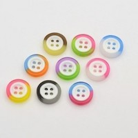 "Resin ButtonMulti-Colored Mixed13mm (1/2"") diaMin. 1 Doz. - Product Image"