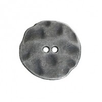 "LOGIN TO VIEW PRICINGAntique Silver ButtonIrregular Hammered20mm (3/4"") diaMin. 1 Doz. - Product Image"
