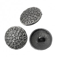 "LOGIN TO VIEW PRICINGAntique SilverCarved17mm (5/8"")Min. 1 doz. - Product Image"