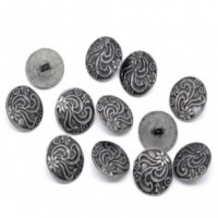 "LOGIN TO VIEW PRICINGAntique SilverFlower Carved20mm ( 3/4"") diaMin. 1 doz. - Product Image"
