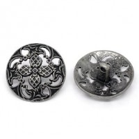 "LOGIN TO VIEW PRICINGAntique SilverFlower Pierced23mm (7/8"") DiaMin. 1 doz. - Product Image"
