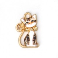 "LOGIN TO VIEW PRICINGSitting CatGrey/White TigerAlloy Enamel21mm x 13mm(7/8"" x 1/2"") - Product Image"