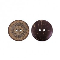 "Coconut Shell Flower28mm (1 1/8"") DiaMin. 1 doz. - Product Image"
