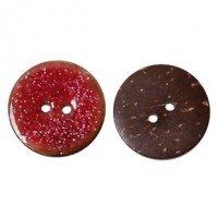 "LOGIN TO VIEW PRICINGCoconut ShellFuchsia Enamel Glitter25mm (1"") DiaMin. 1 doz. - Product Image"
