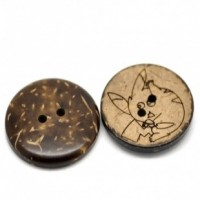 """LOGIN TO VIEW PRICINGCoconut Shell Mouse28mm (1 1/8"""") DiaMin. 1 doz. - Product Image"""