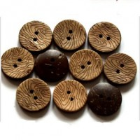 "Coconut Shell - Swirls15mm (9/16"") DiaMin. 1 Doz. - Product Image"