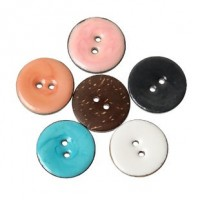 "Coconut ShellEnamel Buttons25mm (1"") DiaMin. 1 doz. - Product Image"
