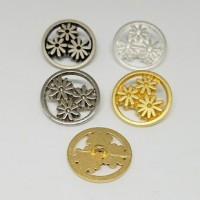 "Diecut Metal DaisiesVintage 1960's23mm (7/8"") diaMin. 6 Units - Product Image"