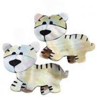 "Tiger Cub Freshwater ShellBlack Shell & Resin56mm x 48mm(2 1/4"" x 1 3/4"") - Product Image"