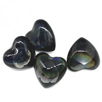 "Domed Glass ButtonHeart16mm (9/16"") rect.Min. 6 Units - Product Image"