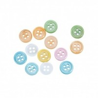 "Mother of Pearl ButtonsDyed - 4 Holes10mm (3/8"")Mixed ColorsMin. 2 Doz. - Product Image"