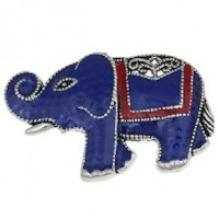 "LOGIN TO VIEW PRICINGElephantAntique SilverColor Plated Enamel44mm x 31mm(1 3/4"" x 1"") - Product Image"