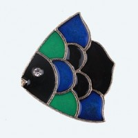 """LOGIN TO VIEW PRICINGAngel FishMulticolor EnamelAlloy Gold Plated33mm x 40mm(1 1/4"""" x 1 1/2"""") - Product Image"""
