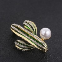 "Cactus withImitation PearlRhinestone Gold Plated47mm x 37mm(1 5/8"" x 1 1/8"") - Product Image"