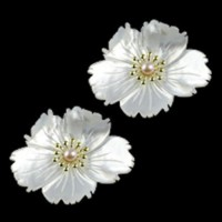 "LOGIN TO VIEW PRICINGFlowerMother of PearlGlass Pearl & Brass 35mm(1 3/8"") - Product Image"