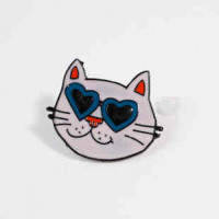 "LOGIN TO VIEW PRICINGCat Facew/SunglassesMUlticolor Enamel27mm x 23mm(1 1/8"" x 7/8"") - Product Image"