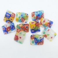 "Dome Glass Flower10mm x 6mm(5/8"" x 3/8"") rect.Min. 6 Units - Product Image"