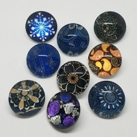 "Half Round Dome GlassFlowers18mm (3/4"") dia.Min. 6 Units - Product Image"