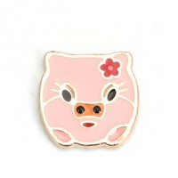 "LOGIN TO VIEW PRICINGPiggyPinkAlloy Enamel16mm x 13mm(5/8"" x 1.2"") - Product Image"