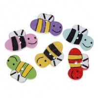 "LOGIN TO VIEW PRICINGWood Bee Button20mm x 13mm(3/4"" x 1/2"")Select ColorsMin. 1 Doz. - Product Image"