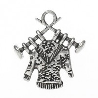 "Antique SilverKnitting Charm3/4"" x 5/8"" Min. 1 doz. - Product Image"