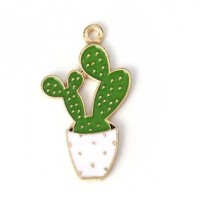 "LOGIN TO VIEW PRICINGCactusGreen/WhiteAlloy Enamel35mm x 20mm(1 3/8"" x 3/4"") - Product Image"