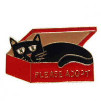 "LOGIN TO VIEW PRICINGCat Adopt MeRed/BlackAlloy Enamel36mm x 23mm(1 1/2"" x 7/8"") - Product Image"