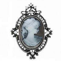 "LOGIN TO VIEW PRICINGLady Cameo ResinAntique silver plated58mm x 50mm2 1/4"" x 2""  - Product Image"