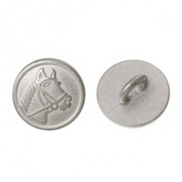 "Antique SilverHorse Head11mm (3/8"") diaMin. 1 doz. - Product Image"