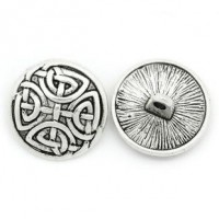 "Antique SilverCeltic Knot17mm ( 5/8"") DiaMin. 6 Units - Product Image"