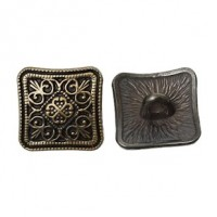 "Antique BronzeFlower Carved13mm (1/2"")Min. 1 doz. - Product Image"