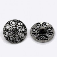 Antique SilverFlower Hollow3 Sizes avail.Min. 1 doz. - Product Image