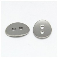 "Silver PlatedOval14mm ( 1/2"") WMin. 6 Units - Product Image"