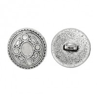 "Antique SilverCarved Circle17mm (5/8"")Min. 6 Units - Product Image"