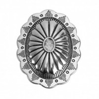 "Antique Silver Oval44mm x 32mm (1 3/4"" x 1 1/4"")Min. 6 Units - Product Image"