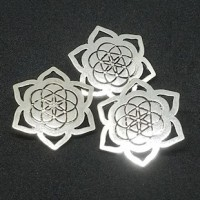 "Silver ButtonStar engraved30mm (1 1/8"") dia.Min.6 Units - Product Image"