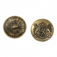 "Antique GoldRoyal Badge32mm (1 1/4"")Min. 6 Units - Product Image"