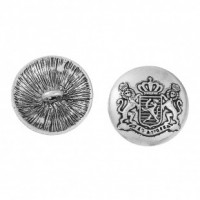 "Antique SilverRoyal Badge32mm (1 1/4"") DiaMin. 6 Units - Product Image"