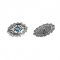 "LOGIN TO VIEW PRICINGAntique Silver Oval44mm x 32mm (1 3/4"" x 1 1/4"")Min. 6 Units - Product Image"