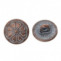"Antique CopperFlower Carved12mm ( 1/2"") diaMin. 6 Units - Product Image"