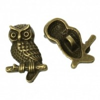 "Antique Bronze Owl22mm x 15mm( 7/8"" x 5/8"")Min. 6 Units - Product Image"