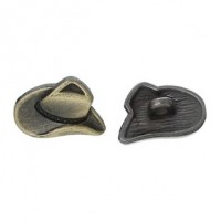 "Antique BrassHat16mm x11mm ( 5/8"" x 3/8"")Min. 1 doz. - Product Image"