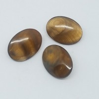"Mother of Pearl ButtonDyed Brown25mm x 18mm(1"" x  3/4"")Min. 1 doz. - Product Image"