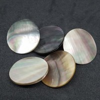"Mother of PearlBlack Lip Disc25mm (1"") dia.Min. 6 Units - Product Image"