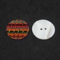 "Mother of PearlSafari Design30mm (1 1/8"") dia.Min. 6 Units - Product Image"