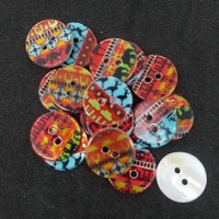 "Mother of PearlSafari Design15mm (5/8"") dia.Min. 1 doz. - Product Image"