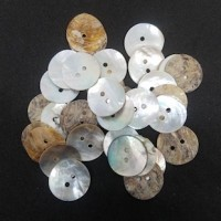 "Natural Shell ButtonNatural11mm (7/16"") dia.Min. 1 Doz. - Product Image"