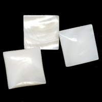"Mother of Pearl ButtonsSquare Low Dome17mm (5/8"")Min. 1 Doz. - Product Image"
