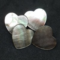 "LOGIN TO VIEW PRICINGMother of PearlBlack Lip Heart20mm (3/4"") dia.Min. 6 Units - Product Image"